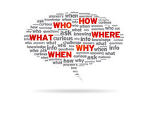 Free Speech Bubble - How, Who, What, Where, Why, When Royalty Free Stock Photo - 20952115
