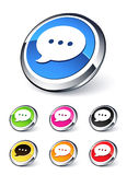 Speech bubble icon royalty free illustration