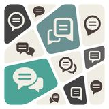 Speech bubble icon Stock Photo