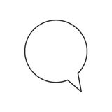 Speech bubble icon Stock Photography