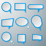 Speech bubble icon. Stock Photography