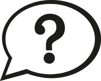 Speech bubble icon with question mark. Vector vector illustration