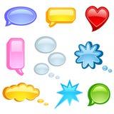 Speech bubble icon set. Vector illustration of speech bubble on white background Royalty Free Stock Photos