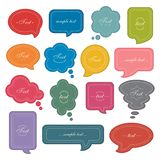 Speech bubble icon set Royalty Free Stock Image