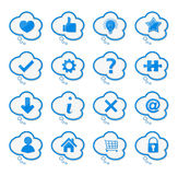 Speech Bubble with icons Stock Photos