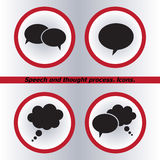 Speech bubble icons black icon, vector Stock Images