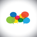Speech bubble icons or chat signs - communication vector concept. This graphic symbol also represents social media communication, virtual interaction, global royalty free illustration