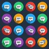 Speech bubble icons in flat style Stock Images
