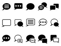 Speech bubble icons Royalty Free Stock Photo