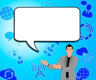 Speech Bubble Meaning Blank Message 3d Illustration. Speech Bubble Icons Meaning Blank Message 3d Illustration Stock Images