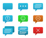 Speech bubble icons Stock Images