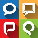 Speech bubble icons set Royalty Free Stock Photo