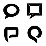 Speech bubble icons set Stock Photo