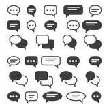 Speech bubble icons. Speak bubbles vector icon set, chat bubbling conversation, chatting text comment signs vector illustration