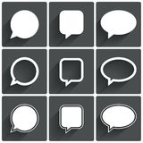 Speech bubble icons. Think cloud symbols. Stock Photos