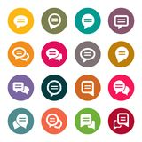 Speech bubble icons Stock Image