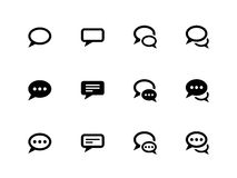 Speech bubble icons on white background. Royalty Free Stock Photos