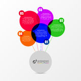 Speech bubble infographic template. Business concept. Vector Stock Image