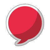 Speech bubble isolated icon. Illustration design Royalty Free Illustration