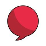 Speech bubble isolated icon. Vector illustration design Stock Photo