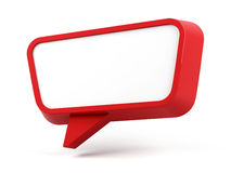 Speech bubble isolated on white. 3D rendering image. Stock Photos