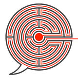 Speech bubble labyrinth puzzle Stock Photos