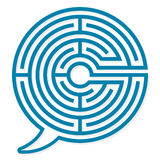 Speech bubble labyrinth puzzle Royalty Free Stock Photo