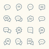 Speech bubble line icons Stock Images