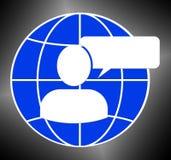 Speech Bubble Logo Means Blank Message 3d Illustration. Speech Bubble Logo Meaning Blank Message 3d Illustration Stock Photo