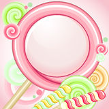 Speech bubble lollipop Stock Images