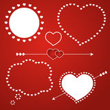 Speech bubble love template icon, vector illustration. Royalty Free Stock Photo