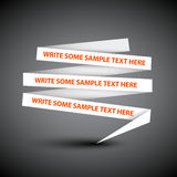 Speech bubble made from paper Royalty Free Stock Photo