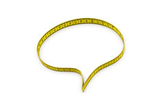 Speech bubble made of tape measure Stock Photography
