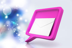 Speech bubble with mail Royalty Free Stock Photos