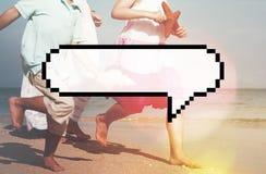 Speech Bubble Message Annouce Communicate Chat Concept Stock Image