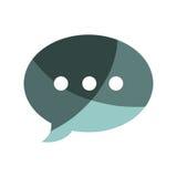Speech bubble message icon Royalty Free Stock Photo