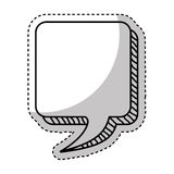Speech bubble message icon Royalty Free Stock Image
