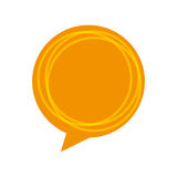 Speech bubble message icon Royalty Free Stock Images