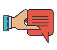 Speech bubble message isolated icon Royalty Free Stock Images