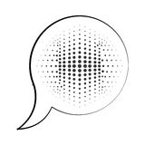 Speech bubble message pop art isolated icon Royalty Free Stock Photo