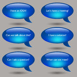 Speech Bubble Message Set Royalty Free Stock Photos