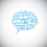 Speech bubble of modern computer icons Royalty Free Stock Photo