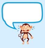 Speech bubble with monkey crying Stock Image