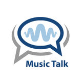 Speech bubble music wave talk icon Royalty Free Stock Images