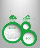 Speech Bubble natyre with grass. Icon, 3d Stock Photos