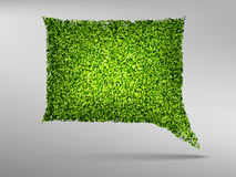 Speech Bubble natyre with grass. Icon, 3d Royalty Free Stock Photos