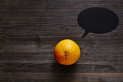 Speech bubble orange has a message Royalty Free Stock Photography