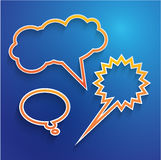 Speech bubble outline background Stock Image