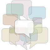 Speech bubble outlines in communication background Stock Image