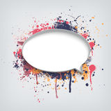 Speech bubble with paint splash Royalty Free Stock Photos